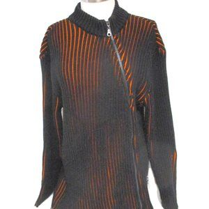 Dolce & Gabbana Ribbed Full Zip Sweater XL